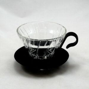 HARIO – V60 Filterhalter, Glas schwarz 1-2 Portionen